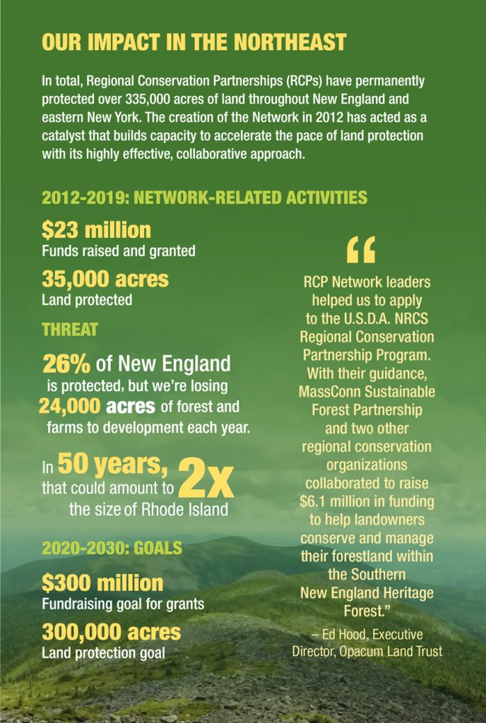 Infographic describing the achievements of the RCP Network