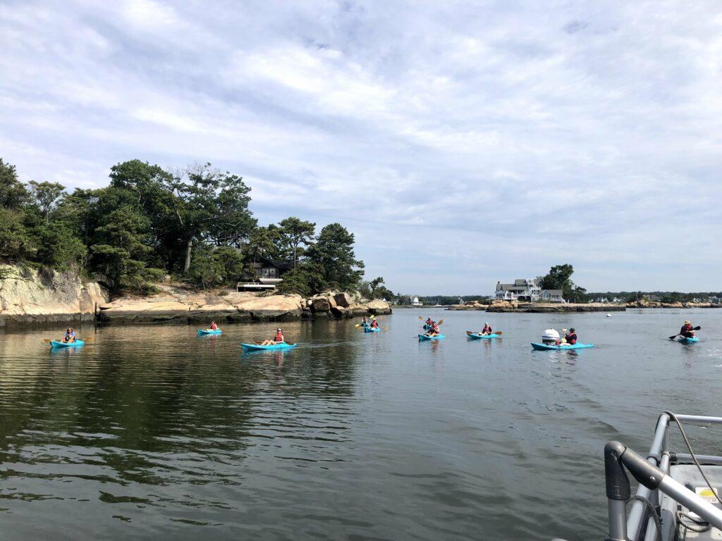 Highstead staff kayak to the Stewart B. McKinney National Wildlife Refuge Outer Island Unit